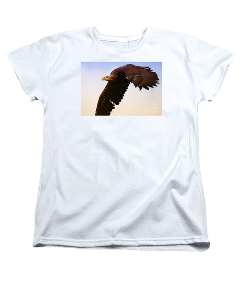 Eagle In Flight Women's T-Shirt (Standard Cut) by Nick  Biemans
