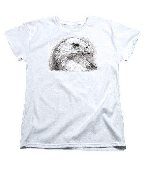 Eagle Portrait Women's T-Shirt (Standard Cut) by Alban Dizdari