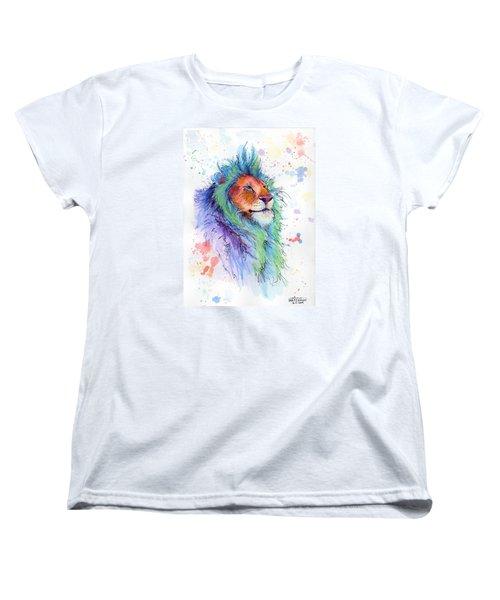 Easter Lion Women's T-Shirt (Standard Cut) by Arleana Holtzmann