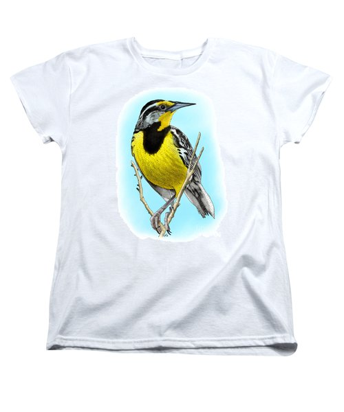 Eastern Meadowlark Women's T-Shirt (Standard Cut) by Roger Hall