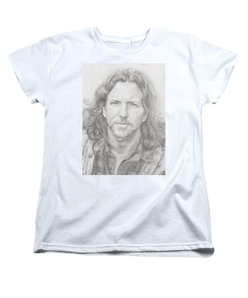 Eddie Vedder Women's T-Shirt (Standard Cut) by Olivia Schiermeyer