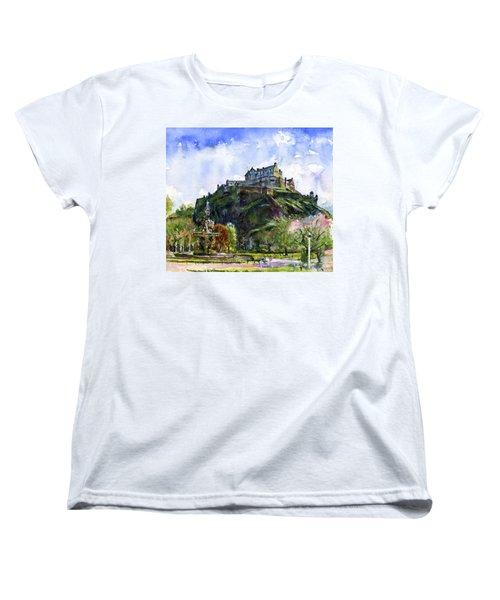 Edinburgh Castle Scotland Women's T-Shirt (Standard Cut) by John D Benson