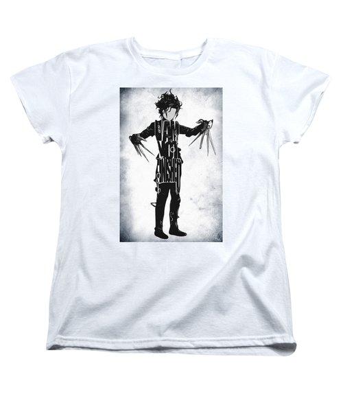 Edward Scissorhands - Johnny Depp Women's T-Shirt (Standard Cut) by Ayse Deniz