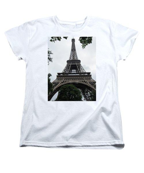 Women's T-Shirt (Standard Cut) featuring the photograph Eiffel Tower by Pema Hou