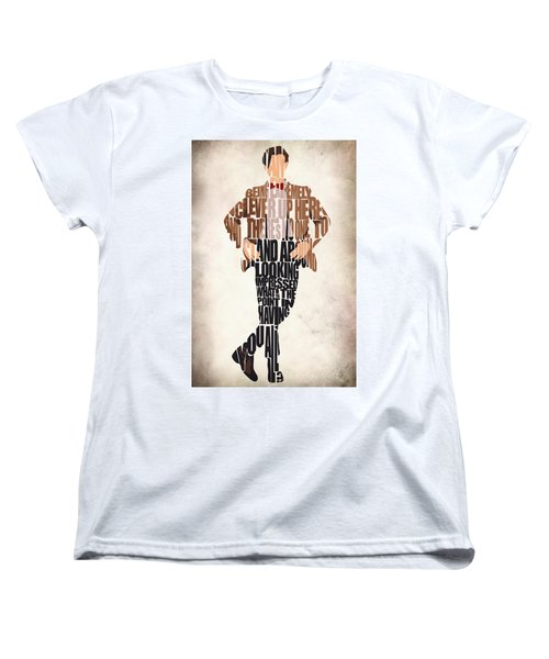 Eleventh Doctor - Doctor Who Women's T-Shirt (Standard Cut) by Ayse Deniz