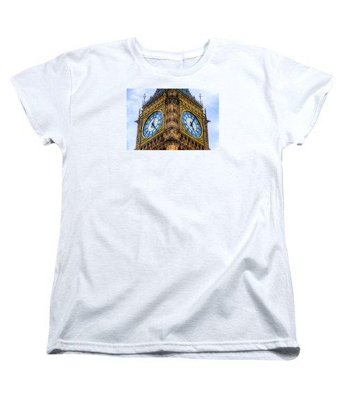Women's T-Shirt (Standard Cut) featuring the photograph Elizabeth Tower Clock by Tim Stanley