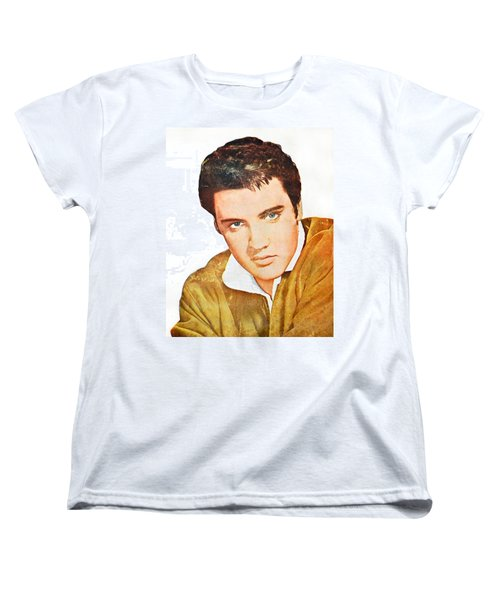 Elvis Colored Portrait Women's T-Shirt (Standard Cut) by Gina Dsgn