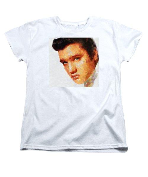 Elvis Presley The King Of Rock Music Women's T-Shirt (Standard Cut) by Georgi Dimitrov