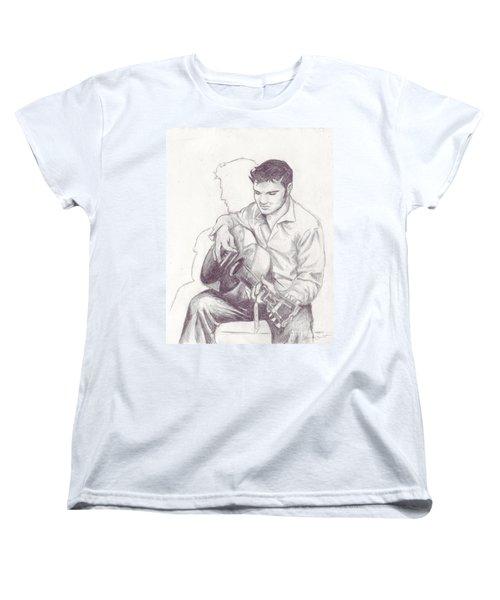 Elvis Sketch Women's T-Shirt (Standard Cut) by Samantha Geernaert