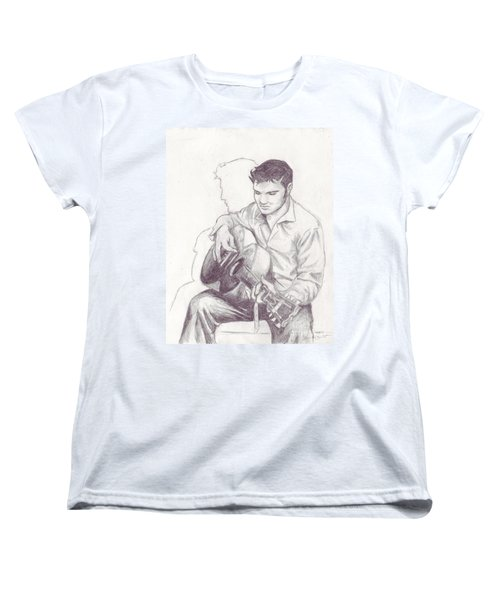 Elvis Sketch Women's T-Shirt (Standard Cut)