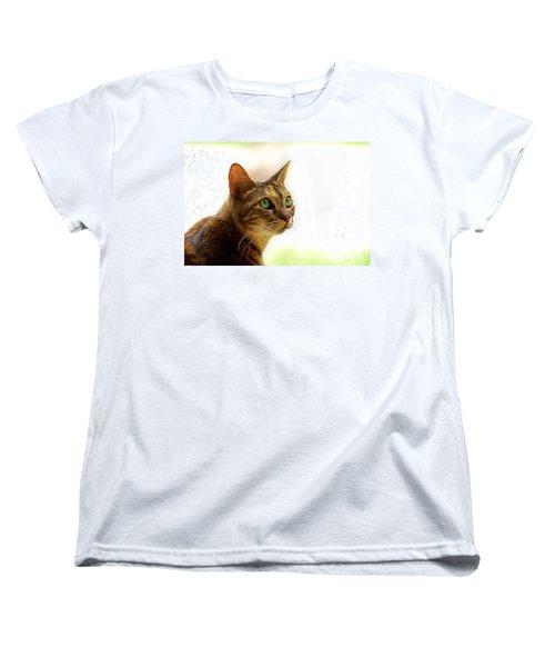 Women's T-Shirt (Standard Cut) featuring the photograph Emerald Eyes by Olga Hamilton