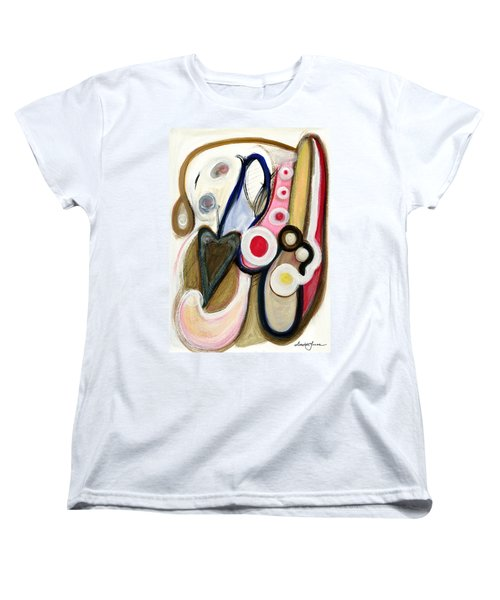 Women's T-Shirt (Standard Cut) featuring the painting Emotions by Stephen Lucas