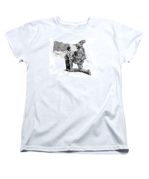 Women's T-Shirt (Standard Cut) featuring the drawing Empty Pockets  by Peter Piatt