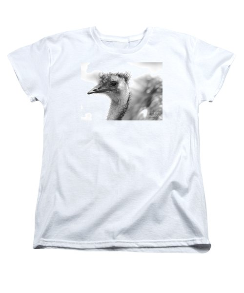 Emu - Black And White Women's T-Shirt (Standard Cut) by Carol Groenen