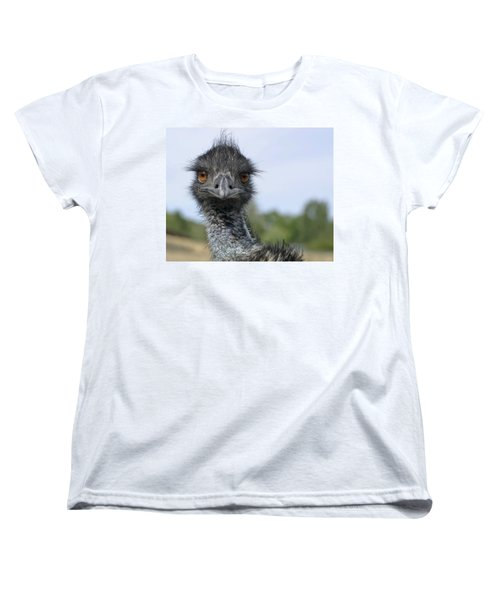 Emu Gaze Women's T-Shirt (Standard Cut) by Belinda Greb