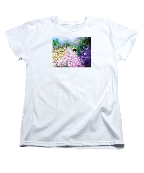Women's T-Shirt (Standard Cut) featuring the painting End Of May by Kume Bryant