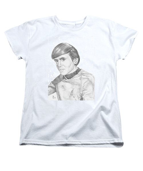Women's T-Shirt (Standard Cut) featuring the drawing Ensign Pavel Chekov by Thomas J Herring