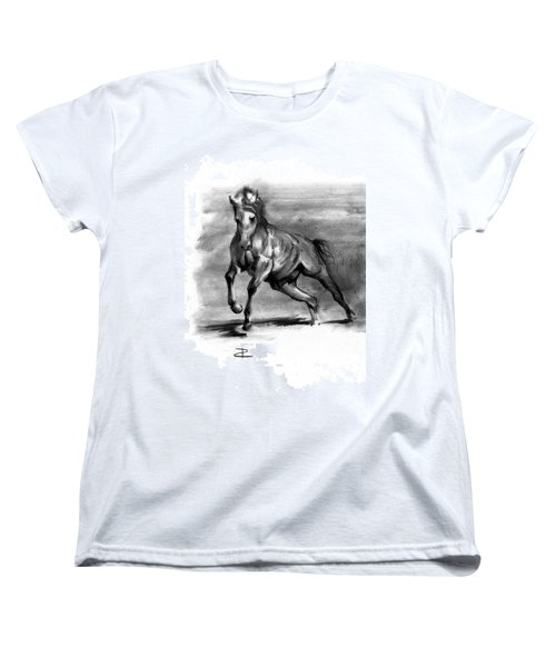 Women's T-Shirt (Standard Cut) featuring the drawing Equine IIi by Paul Davenport