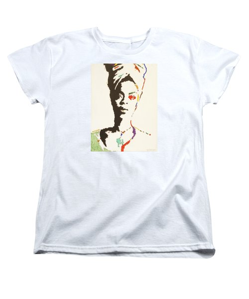 Women's T-Shirt (Standard Cut) featuring the painting Erykah Badu by Stormm Bradshaw