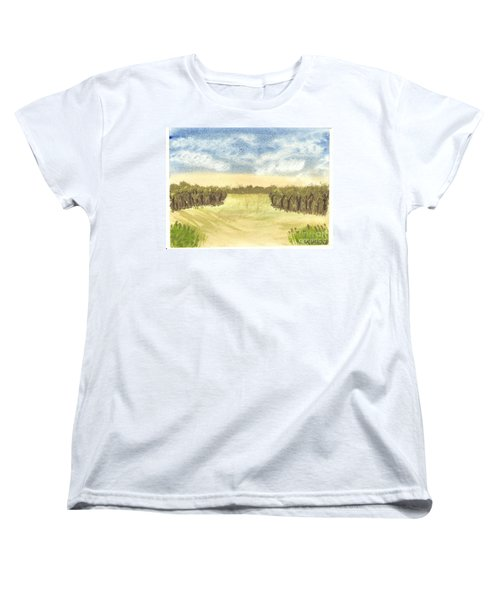 Escape To The Country Women's T-Shirt (Standard Cut) by Tracey Williams
