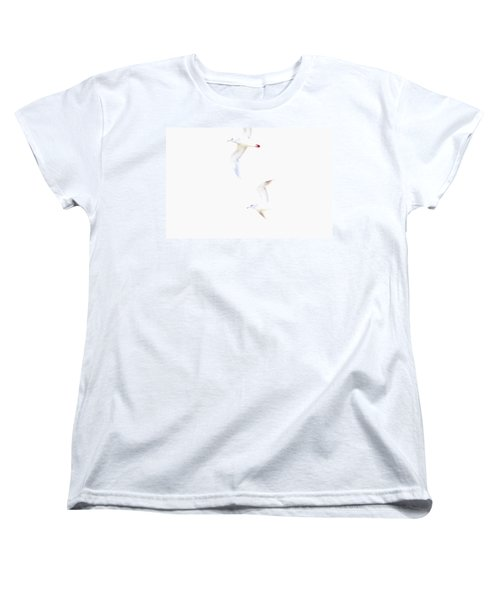 Women's T-Shirt (Standard Cut) featuring the photograph Ethereal Gulls by Peggy Collins