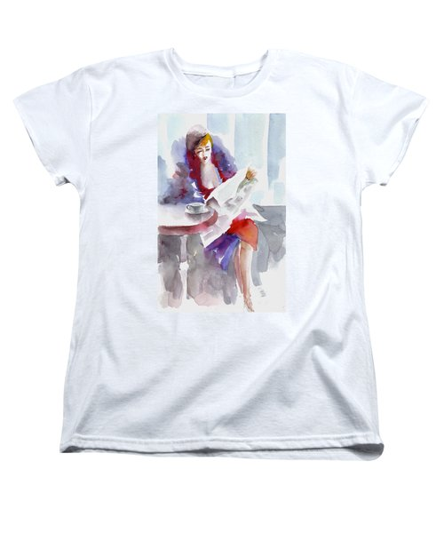 Women's T-Shirt (Standard Cut) featuring the painting Expectation.. by Faruk Koksal