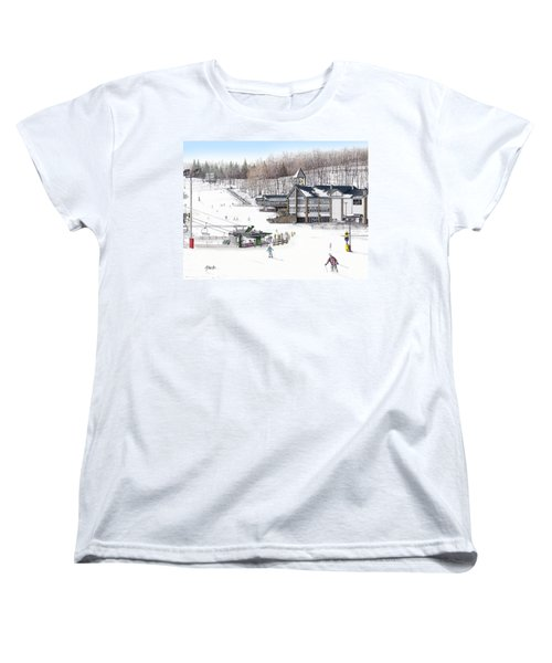 Women's T-Shirt (Standard Cut) featuring the painting Experience Hidden Valley by Albert Puskaric