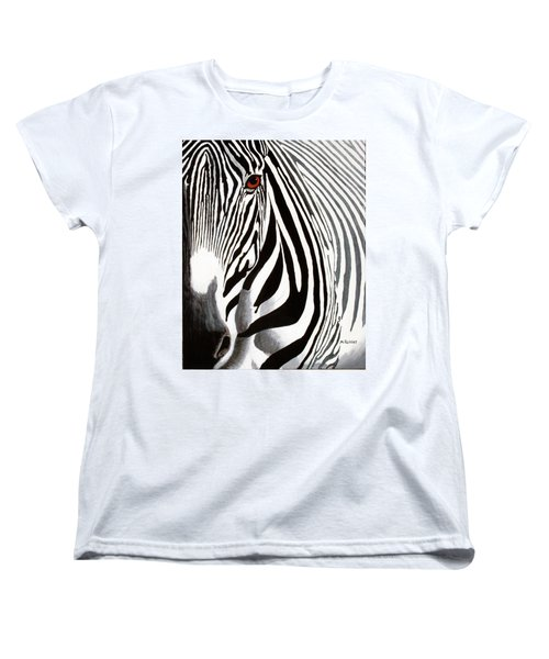 Eye Of The Zebra Women's T-Shirt (Standard Cut) by Mike Robles