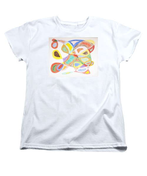 Women's T-Shirt (Standard Cut) featuring the painting Masks by Stormm Bradshaw
