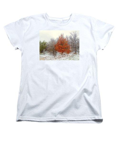 Fall And Winter Women's T-Shirt (Standard Cut) by Robert ONeil