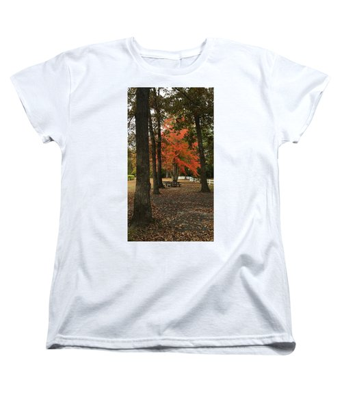 Fall Brings Changes  Women's T-Shirt (Standard Cut) by Amazing Photographs AKA Christian Wilson
