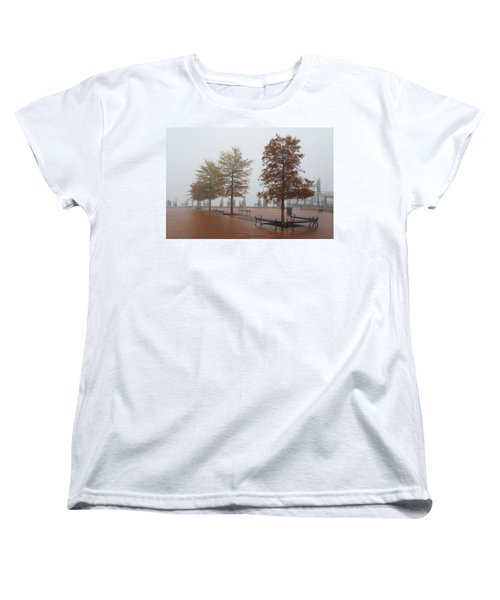 Women's T-Shirt (Standard Cut) featuring the photograph Fall Fog by Jennifer Casey