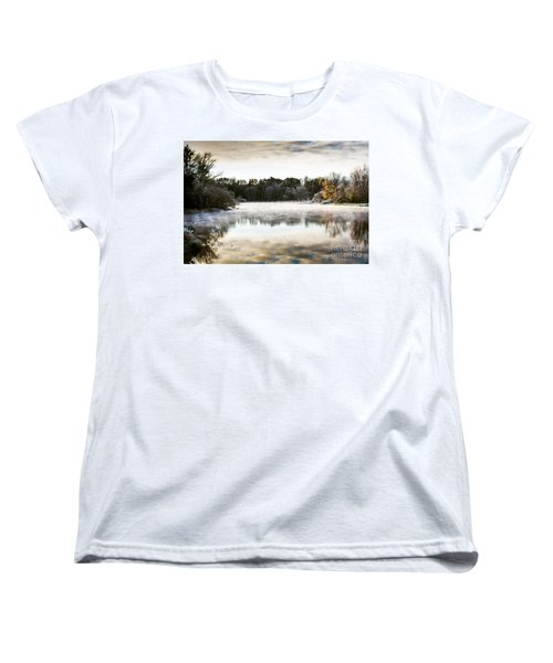 Fall Scene On The Mississippi Women's T-Shirt (Standard Cut) by Cheryl Baxter