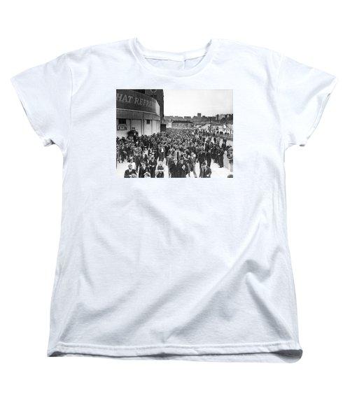 Fans Leaving Yankee Stadium. Women's T-Shirt (Standard Cut) by Underwood Archives