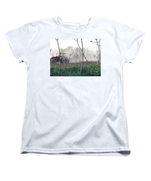 Women's T-Shirt (Standard Cut) featuring the photograph Farm Life  by Michael Krek