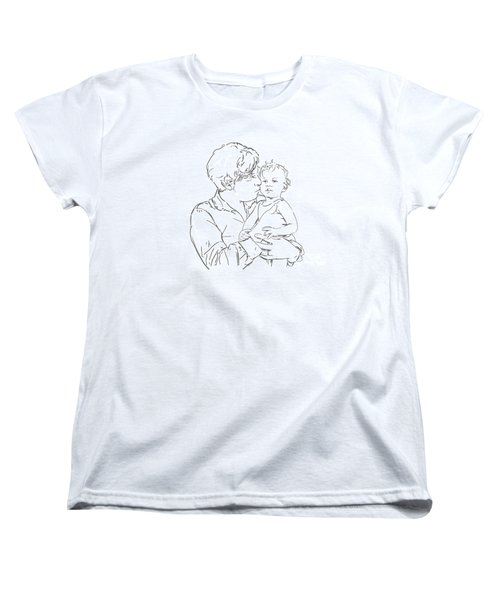 Women's T-Shirt (Standard Cut) featuring the drawing Father And Son by Olimpia - Hinamatsuri Barbu