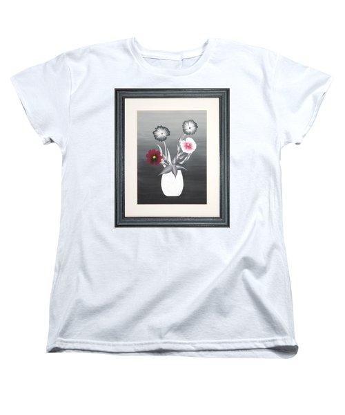 Faux Flowers II Women's T-Shirt (Standard Cut) by Ron Davidson