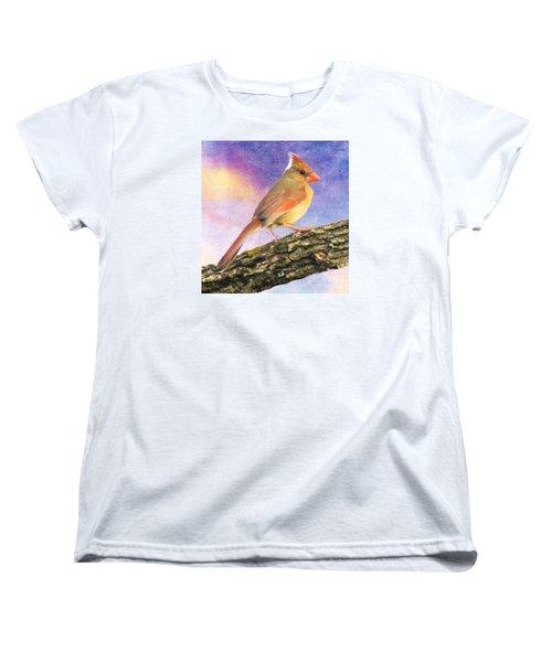 Female Cardinal Away From Sun Women's T-Shirt (Standard Cut) by Janette Boyd