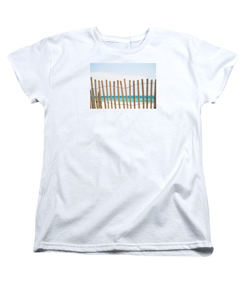 Fence On The Beach Women's T-Shirt (Standard Cut) by Shelby  Young