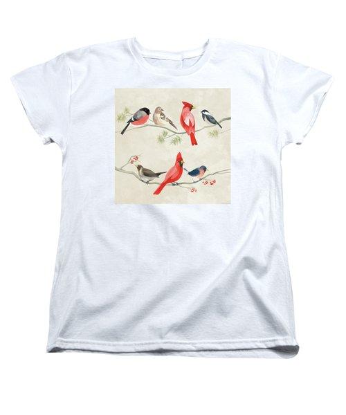 Festive Birds I Women's T-Shirt (Standard Cut) by Danhui Nai