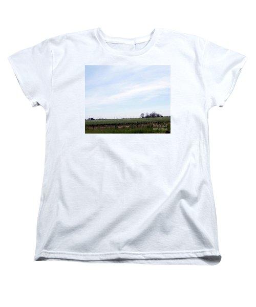 Women's T-Shirt (Standard Cut) featuring the photograph Fields Of Source by Bobbee Rickard