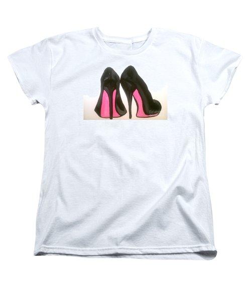 Women's T-Shirt (Standard Cut) featuring the painting Fierce by Marisela Mungia