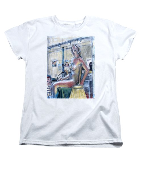 Figure Drawing- Primary Colors  Women's T-Shirt (Standard Cut)