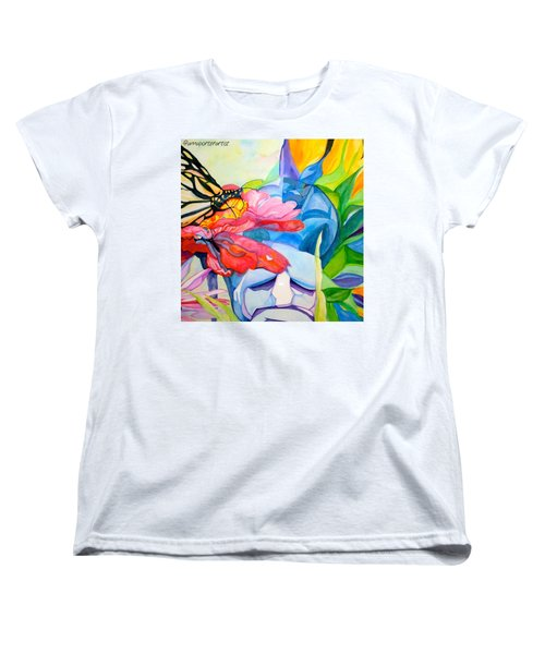 Fiji Dreams - Original Watercolor Painting Women's T-Shirt (Standard Cut) by Anna Porter