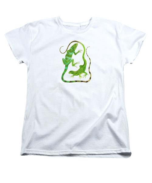 Fijian Iguanas Women's T-Shirt (Standard Cut) by Cindy Hitchcock