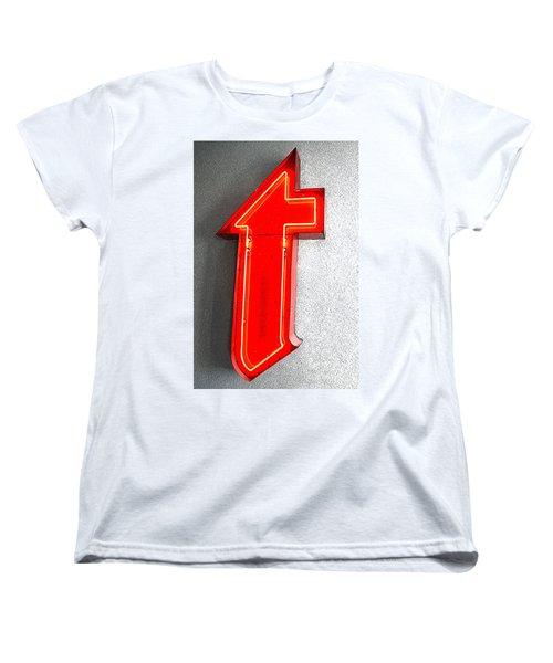 Firestone Building Red Neon T Women's T-Shirt (Standard Cut) by Catherine Sherman