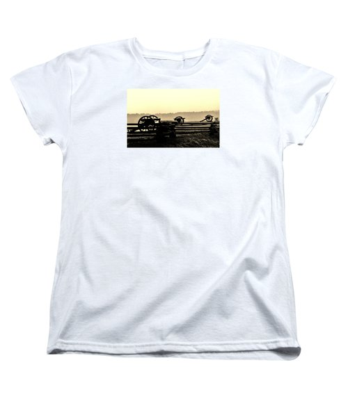 Firing Line Women's T-Shirt (Standard Cut) by Daniel Thompson