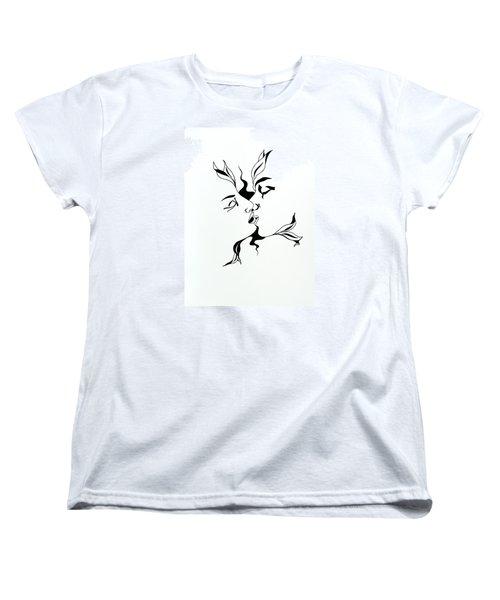 First Kiss Women's T-Shirt (Standard Cut) by Yelena Tylkina