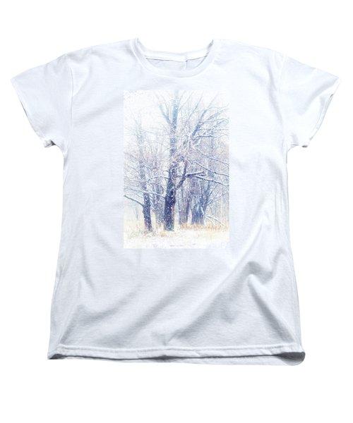 First Snow. Dreamy Wonderland Women's T-Shirt (Standard Cut) by Jenny Rainbow