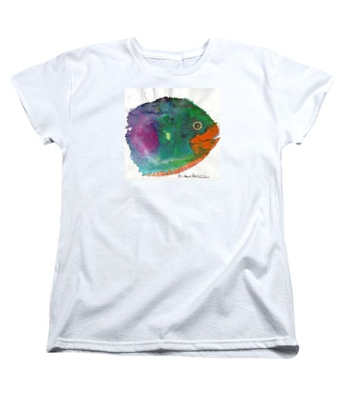 Women's T-Shirt (Standard Cut) featuring the painting Fishy by Joan Hartenstein